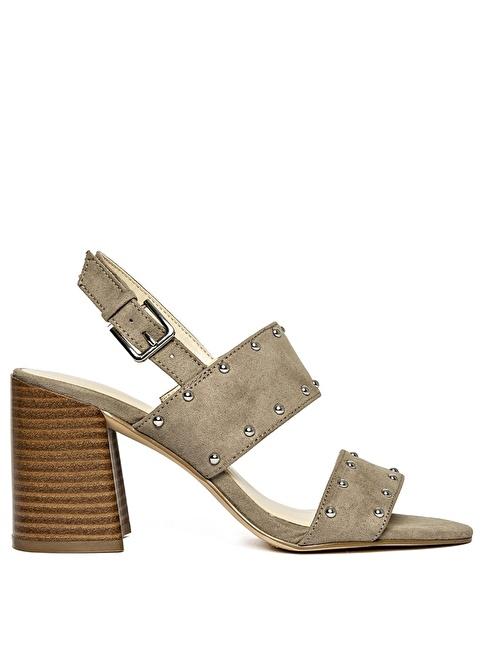 Nine West Kalın Topuklu Sandalet Vizon